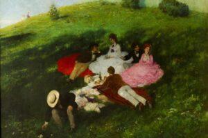 Майский пикник. Картина Пал Синеи Мерше. 1873 год